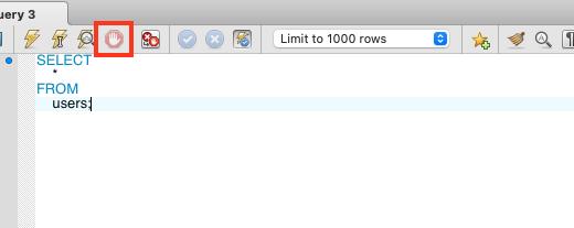 【MySQL Workbench】実行したSQLを停止する